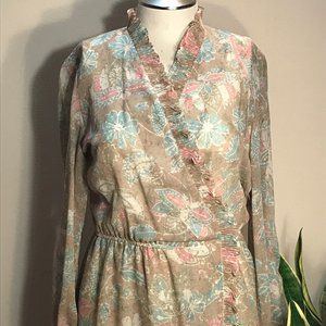 Vintage Nassau Miss New York Wrap Dress